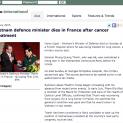 Bộ Trưởng quốc phòng Phùng Quang Thanh qua đời