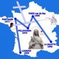 """Cỗ xe """"M của Mẹ Maria"""" đi khắp nước Pháp"""